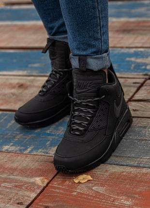 😊nike air max 90 sneakerboot black🤗 мужские кроссовки осень / ...