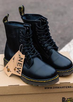 😊dr.martens 1460 black🤗 женские ботинки мартинс чёрные без мех...