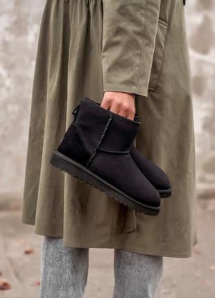 😊ugg classic black mini🤗 натуральные зимние женские угги сапог...