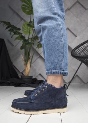 😊ugg neumel🤗 мужские зимние замшевые ботинки угги с мехом нату...