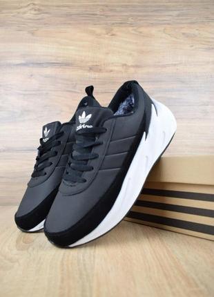 Adidas sharks чёрные на белой🤗 мужские зимние кроссовки адидас...