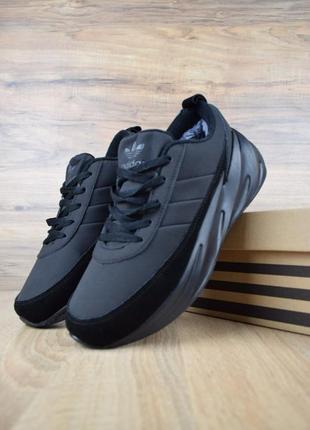 Adidas sharks чёрные🤗 мужские зимние кроссовки адидас с мехом ...