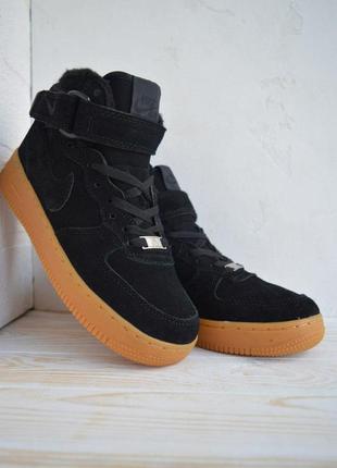 Nike air force 1 high winter fur 🤗 женские зимние кроссовки на...