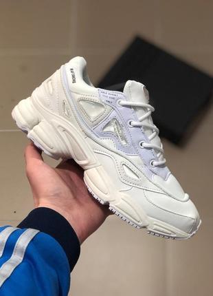 Шикарные женские кроссовки adidas raf simons ozwego ii white