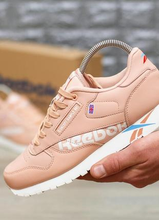 Шикарные женские кроссовки reebok classic pink