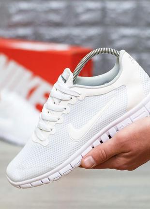 Шикарные женские кроссовки nike free run 3.0 white