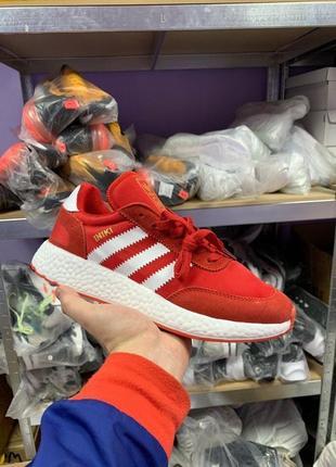 Шикарные мужские кроссовки adidas iniki red/white