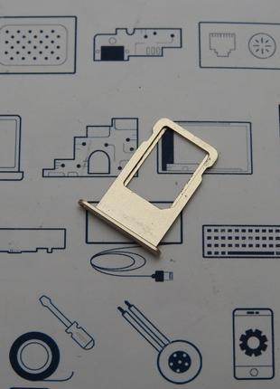 Держатель сим карты Apple iPhone 6+, золото Сервисный оригинал...