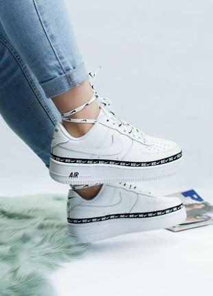 Шикарные женские кроссовки nike air force white