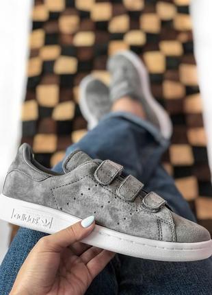 Шикарные женские кроссовки stan smith adidas grey