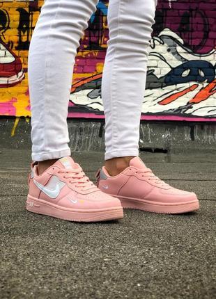 Шикарные женские кроссовки nike air force 1 pink