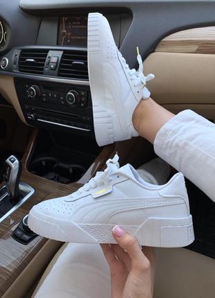 Шикарные женские кроссовки puma basket cali  white