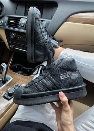 Шикарные  кроссовки adidas rick owens triple black