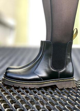 Шикарные женские ботинки dr.martens 1460 snow plow chelsea