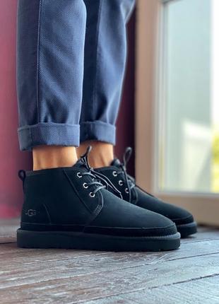 Шикарные мужские зимние теплые ботинки ugg neumel black