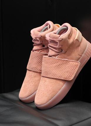 Шикарные женские термо кроссовки adidas tubular invader pink о...