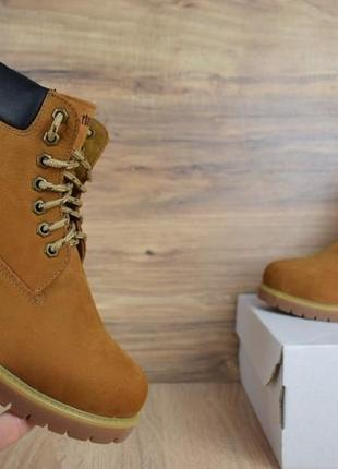 Шикарные женские зимние ботинки с мехом timberland boots winter