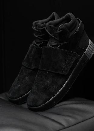 Шикарные мужские термо кроссовки adidas tubular invader black ...
