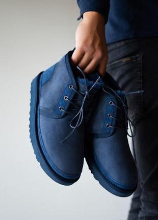 Шикарные мужские  зимние ботинки ugg neumel blue