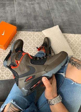 "Шикарные мужские кроссовки nike air max 90 sneakerboot ""green"""