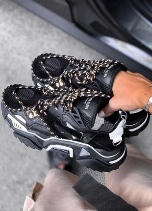 Шикарные женские кроссовки  calvin klein  black
