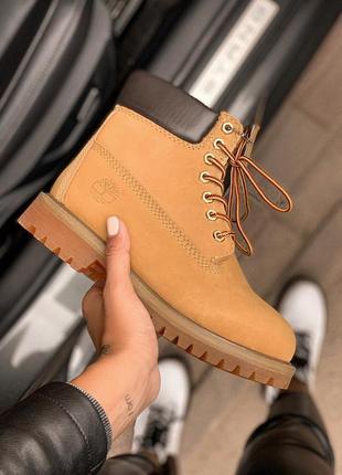 Шикарные женские ботинки timberland 6 inch premium ginger термо