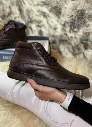 Шикарные мужские зимние ботинки  с мехом