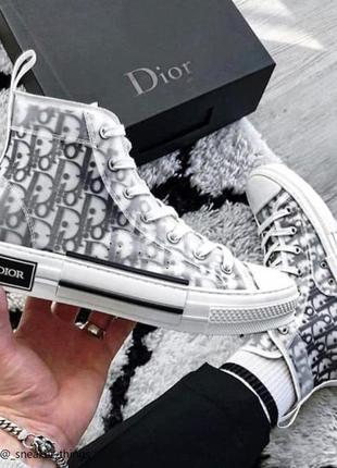 Шикарные женские кроссовки dior b23 high-top sneakers