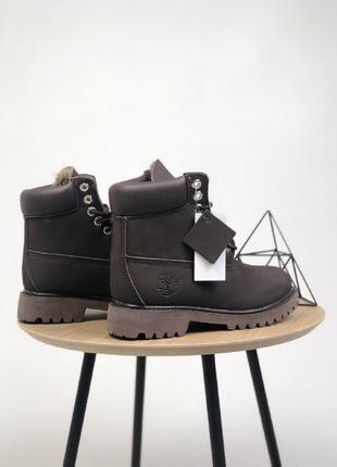 Шикарные женские зимние ботинки  с мехом timberland classic