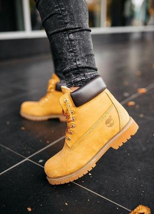 """Шикарные мужские зимние ботинки с мехом timberland """"ginger"""""""