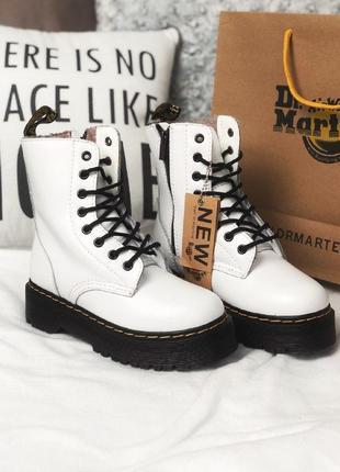 Шикарные женские зимние ботинки dr. martens jadon white