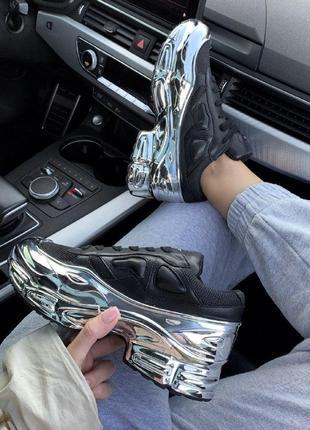 Шикарные женские кроссовки raf simons ozweego black