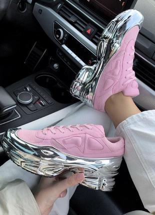 Шикарные женские кроссовки  raf simons ozweego pink