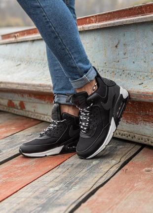 Шикарные мужские термо кроссовки nike air max 90 sneakerboot b...