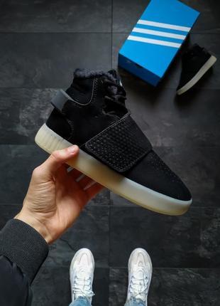 Шикарные женские зимние кроссовки  adidas tubular  invader с м...