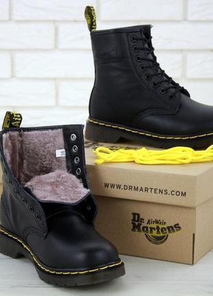 Шикарные мужские зимние  ботинки dr. martens 1460 classic fur