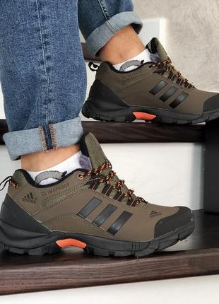 Шикарные мужские зимние кроссовки adidas climaproof  с мехом