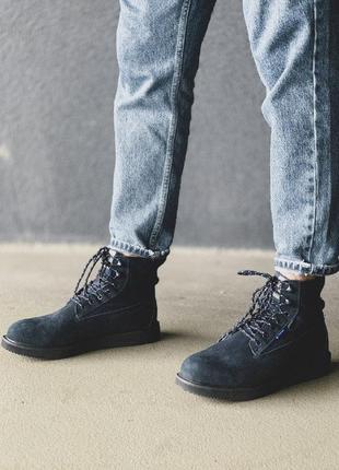 Шикарные мужские зимние ботинки timberland blue