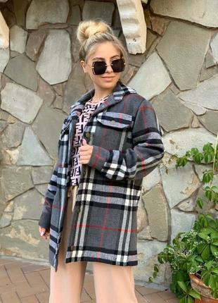 Рубашка на подкладке ветровка пальто