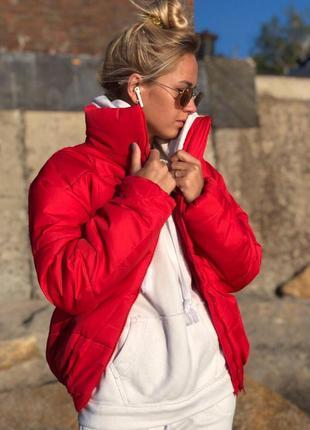 Жіноча куртка montella red