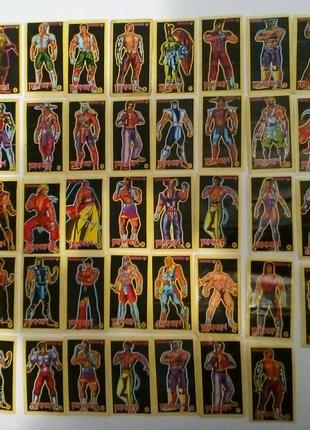 Наклейки вкладыши 90 годов tekken полная коллекция