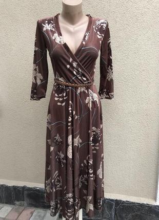 Винтаж,платье в ретро стиле,бархат,велюр,цветочный принт