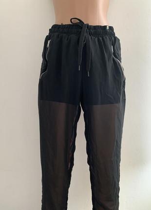 Эксклюзивные спортивные шифоновые штаны шорты adidas by rita o...