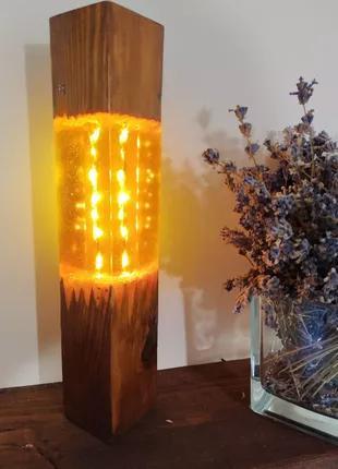 Лампа/ночник/светильник из эпоксидной смолы
