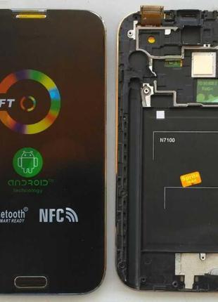 Дисплей + тачскрин + рамка для SAMSUNG N7100 Galaxy Note 2 Blue