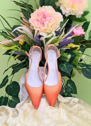 Натуральная кожа питона босоножки туфли италия