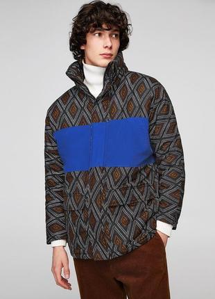 Чоловіча куртка з принтом zara