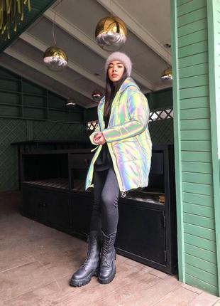 Зимняя куртка со светоотражающим ефектом