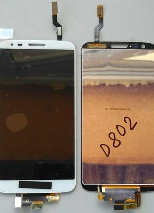Дисплей + тачскрин для LG D802 G2 White