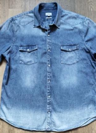 Джинсовая рубашка Next, размер XХL